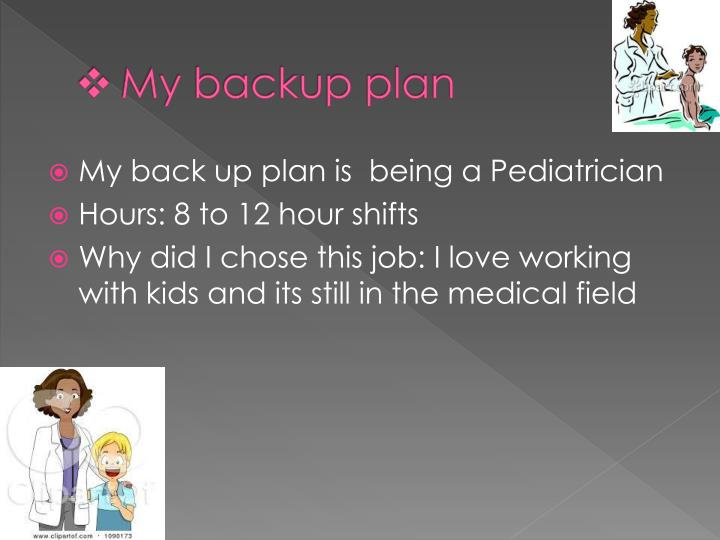 My backup plan