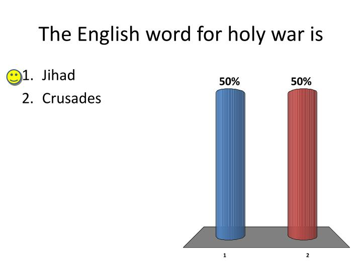 The English word for holy war is