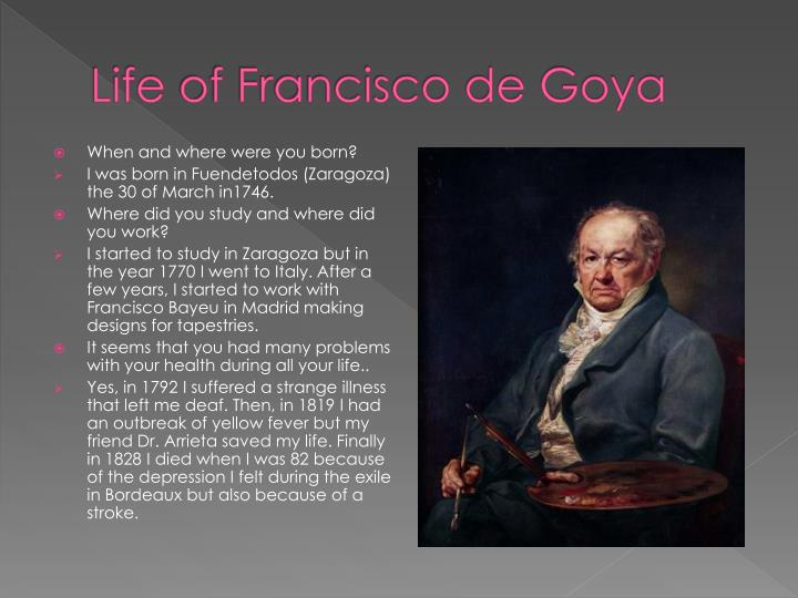 Life of francisco de goya