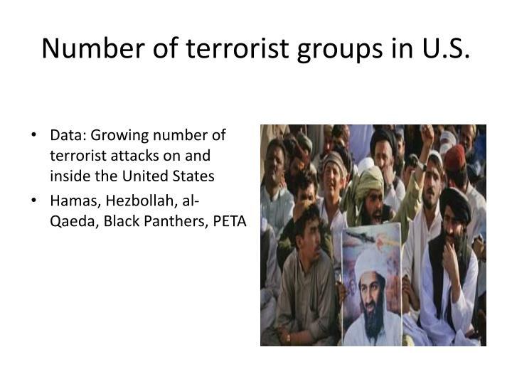 Number of terrorist groups in U.S.
