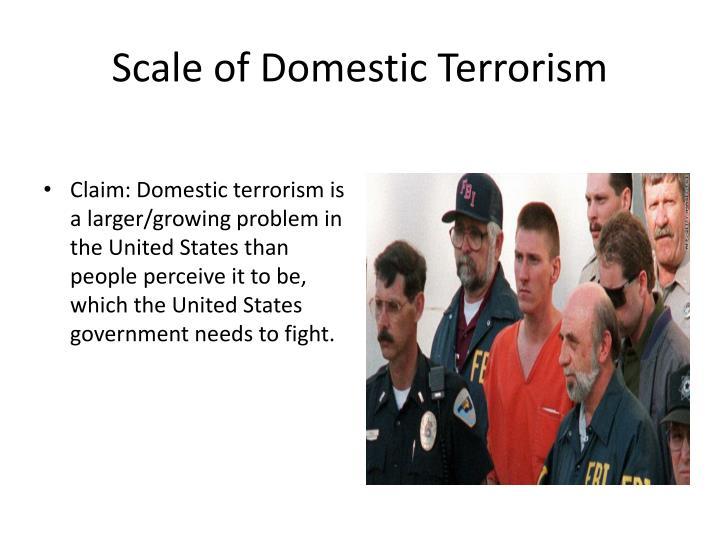 Scale of Domestic Terrorism