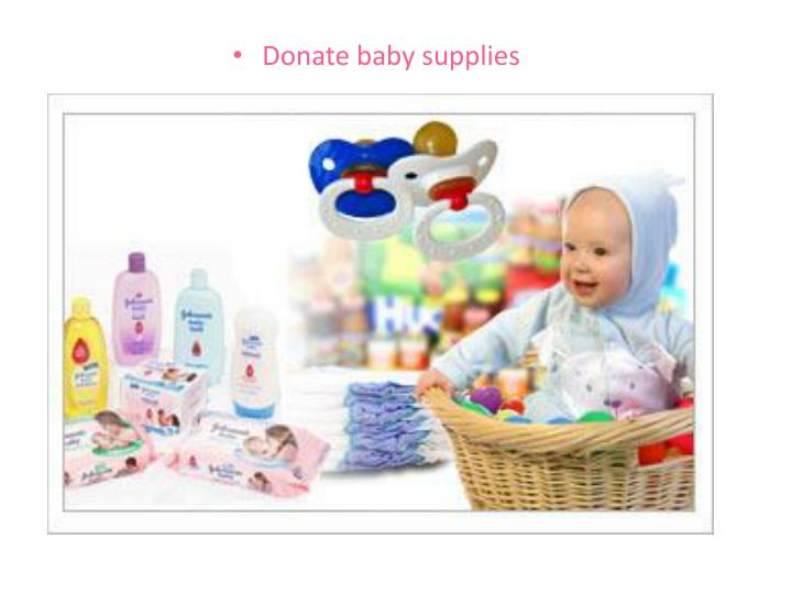 Donate baby supplies