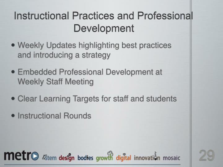 Instructional Practices and Professional Development