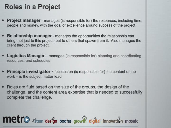 Roles in a Project