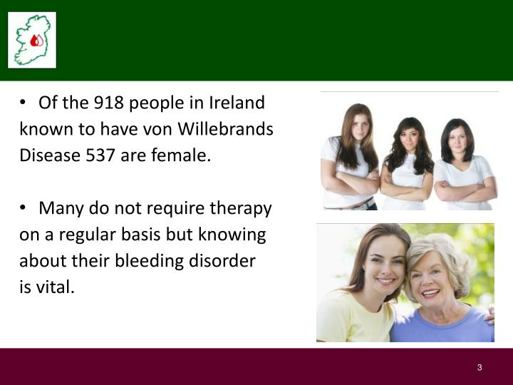 Of the 918 people in Ireland