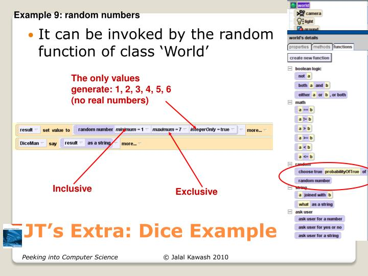 JT's Extra: Dice Example