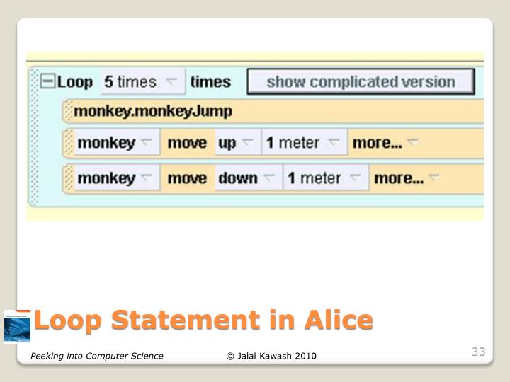 Loop Statement in Alice