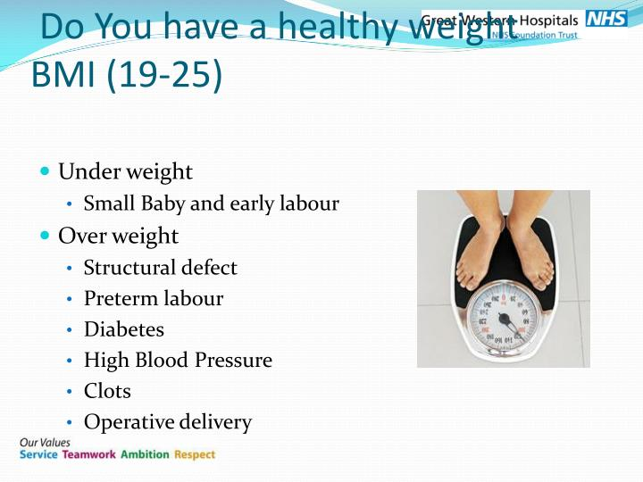 Do You have a healthy weight