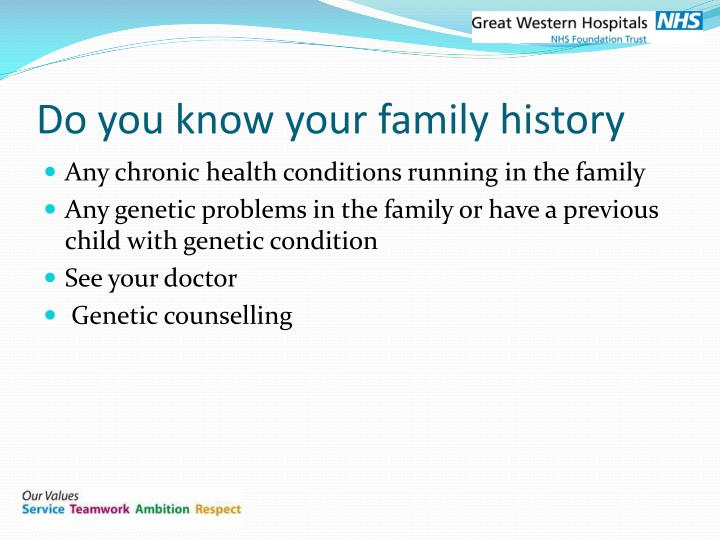 Do you know your family history