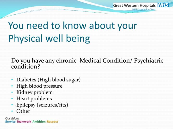 You need to know about your Physical well being
