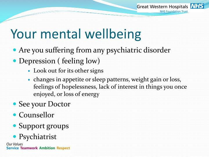 Your mental wellbeing