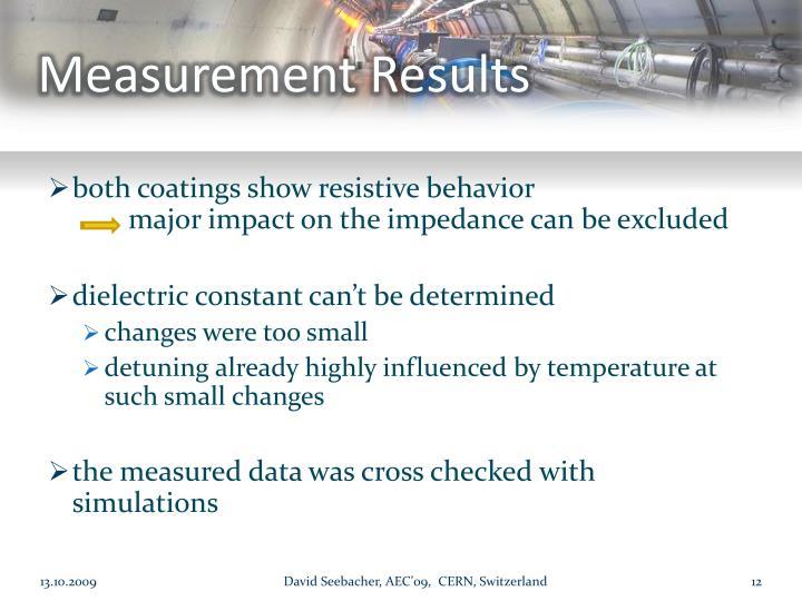 Measurement Results