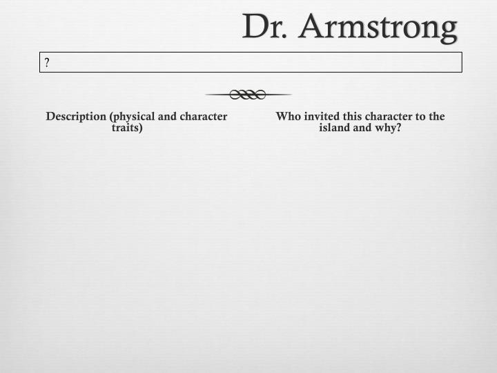Dr. Armstrong