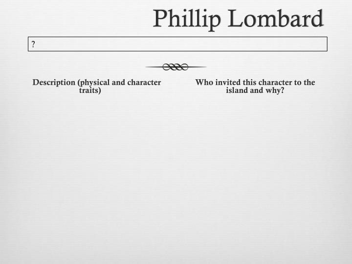 Phillip Lombard