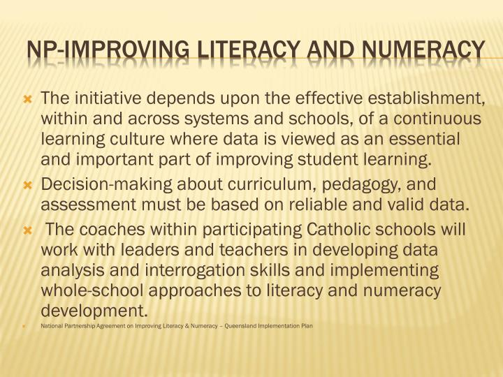 Np improving literacy and numeracy