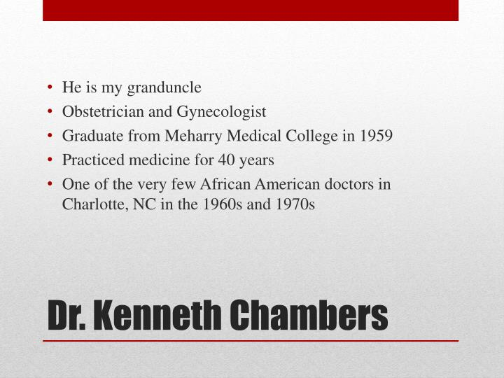 Dr kenneth chambers