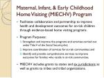 maternal infant early childhood home visiting miechv program