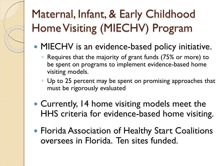 Maternal, Infant, & Early Childhood Home Visiting (MIECHV) Program