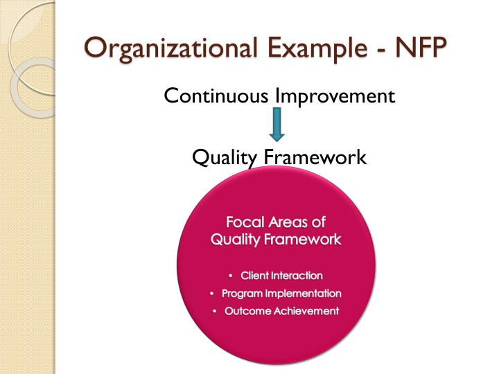 Organizational Example - NFP
