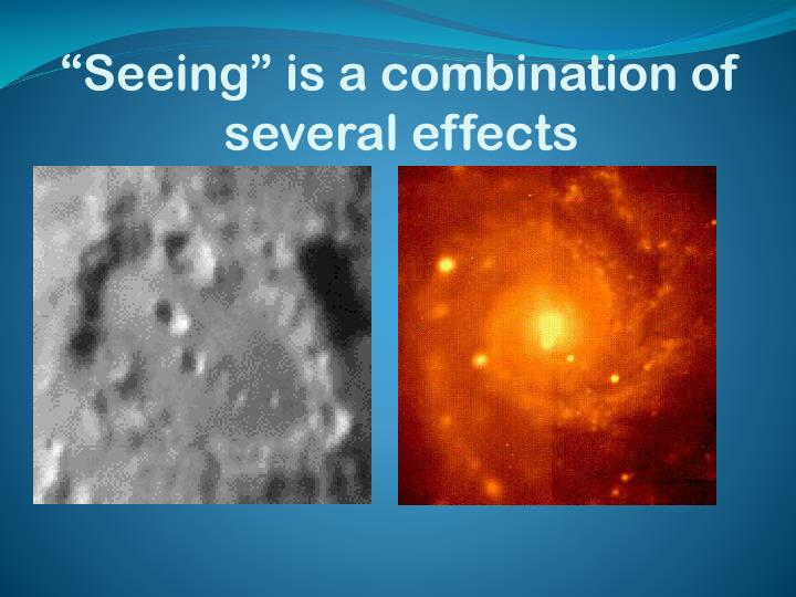 """Seeing"" is a combination of several effects"