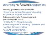 enhancing ny lesund engagement