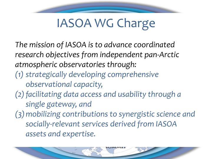 IASOA WG Charge