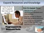 expand resources and knowledge2