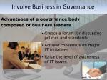 involve business in governance