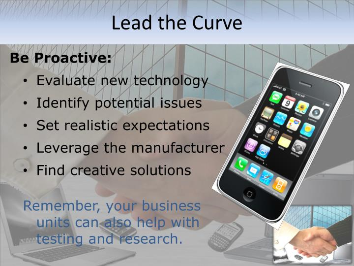 Lead the Curve