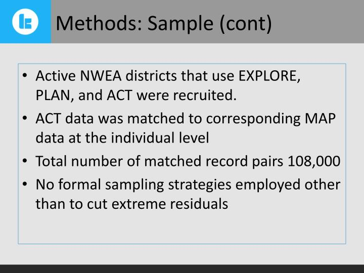 Methods: Sample (cont)