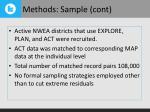 methods sample cont