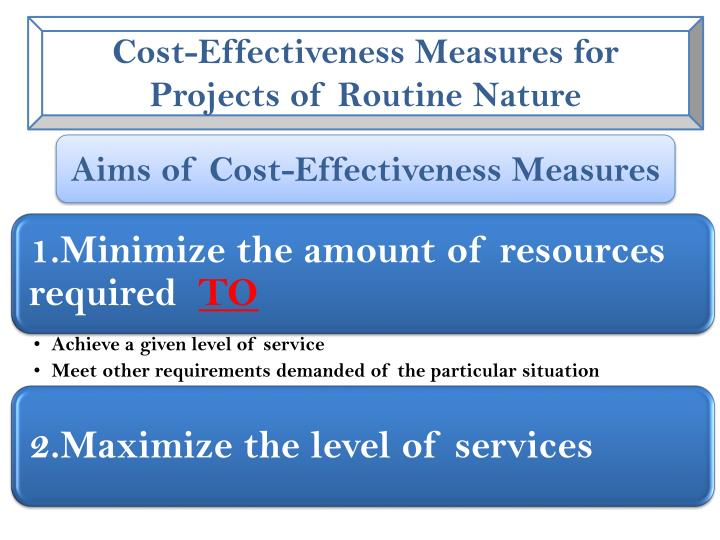 Cost-Effectiveness Measures for Projects of Routine Nature