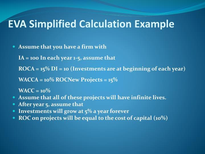 EVA Simplified Calculation Example