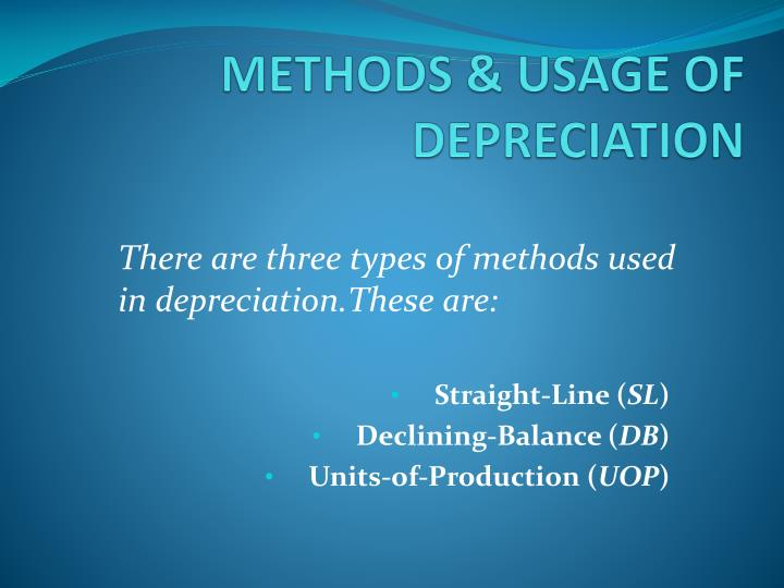 METHODS & USAGE OF