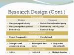 research design cont