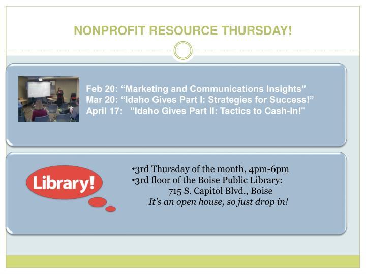 "Feb 20: ""Marketing and Communications Insights"""