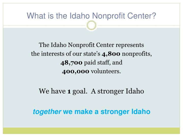 What is the Idaho Nonprofit Center?