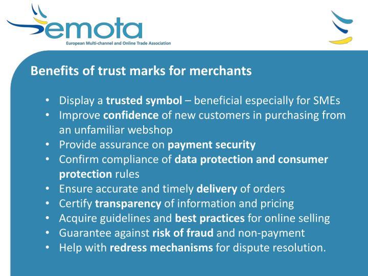 Benefits of trust marks for merchants