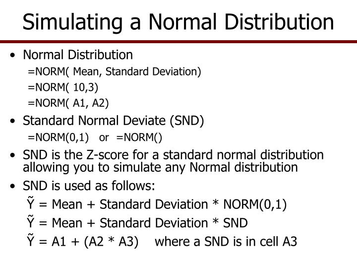 Simulating a Normal Distribution
