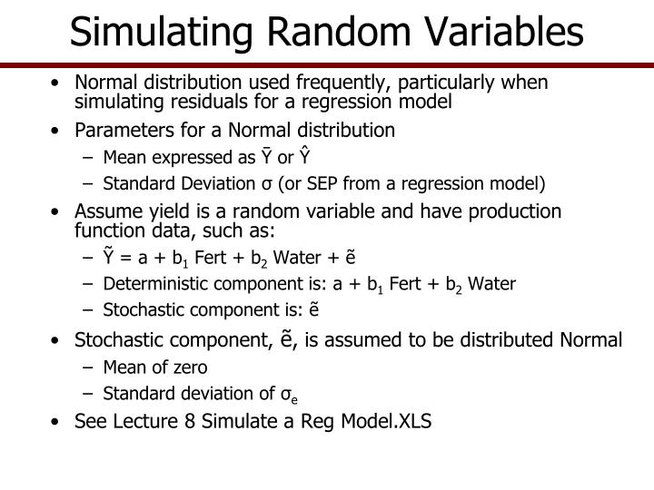 Simulating Random Variables