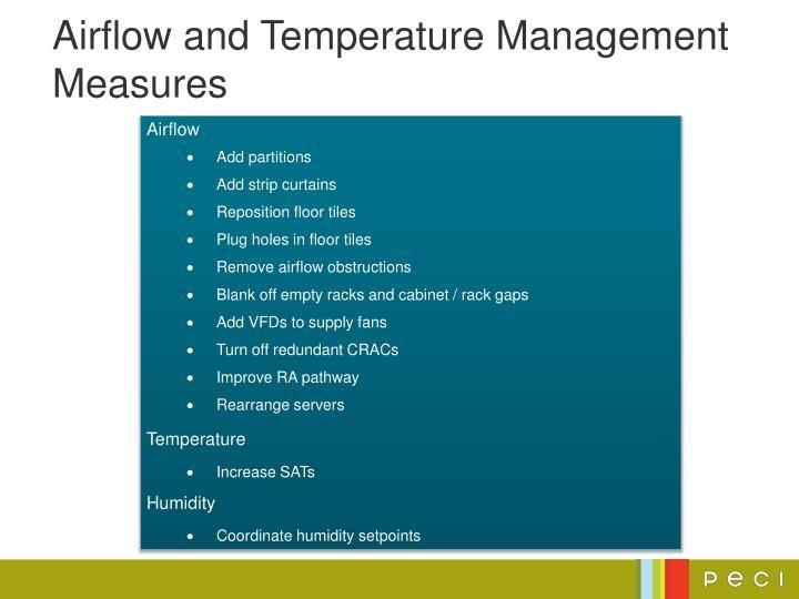 Airflow and Temperature Management Measures