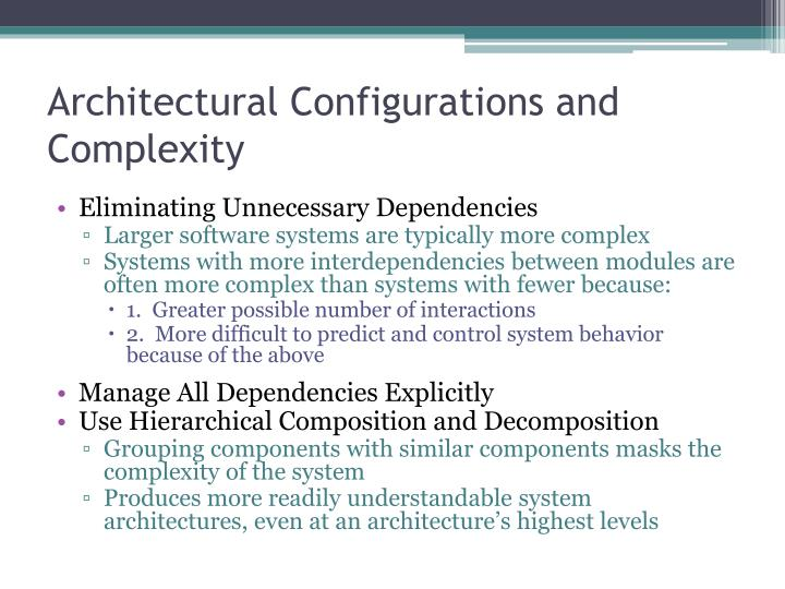 Architectural Configurations and Complexity