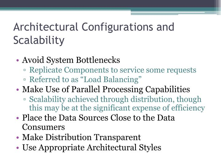 Architectural Configurations and Scalability