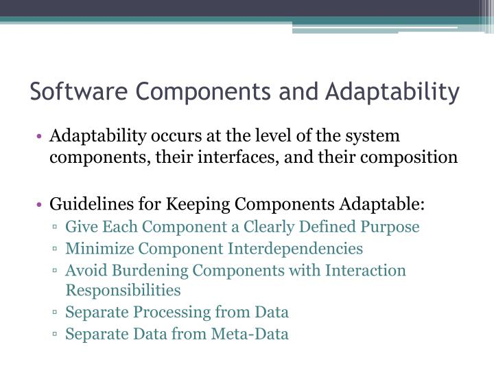 Software Components and Adaptability