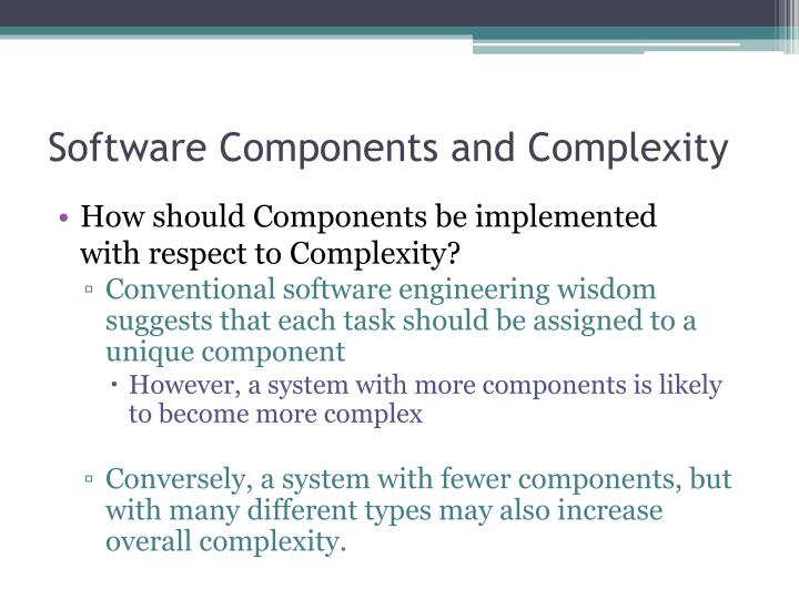 Software Components and Complexity