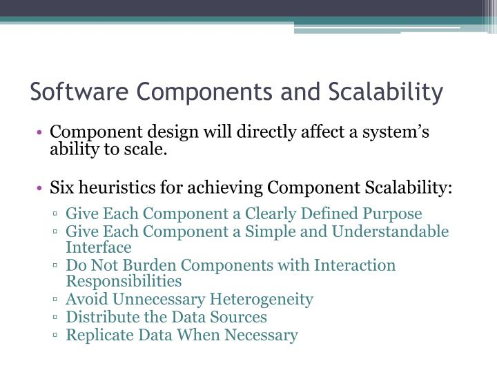 Software Components and Scalability