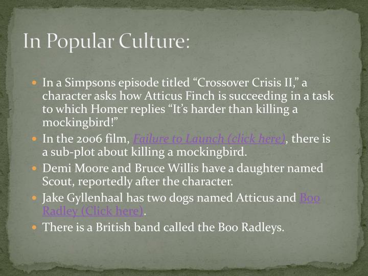 In Popular Culture: