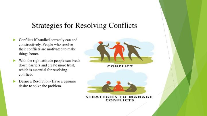 Strategies for Resolving Conflicts