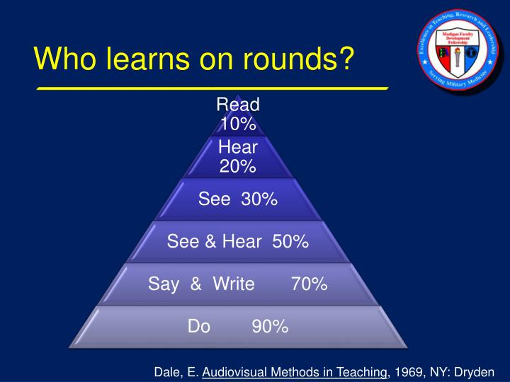 Who learns on rounds?