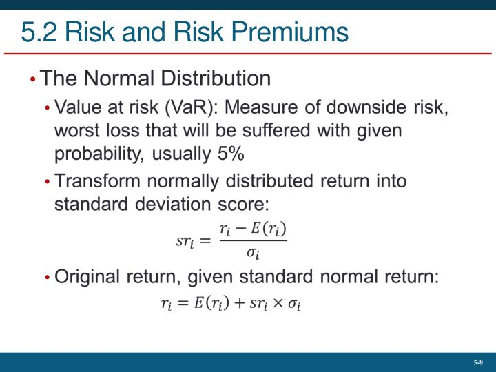 5.2 Risk and Risk Premiums